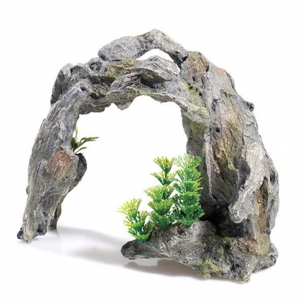 Driftwood Arch with Plant Aquarium Ornament